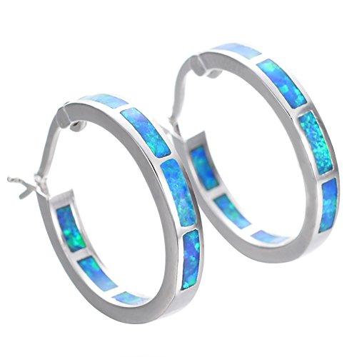 Bamos Jewelry Girls 925 Promise Silver Best Friend Gift Hoop Earrings Wedding Engagement Hoop Stud Earrings 19 MM