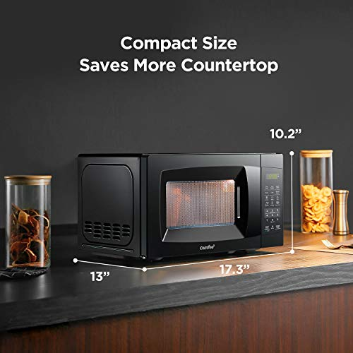 COMFEE-EM720CPL-PMB-Countertop-Microwave-Oven-with-Sound-OnOff-ECO-Mode-and-Easy-One-Touch-Buttons-07cuft-700W-Black