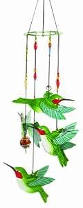 Pintado a mano Spoontiques colibrí carillón