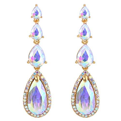 Multi Stone Chandelier Earrings - 6