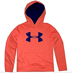 Under Armour Girl\'s Big Logo Hoodie (X-Large/Youth, Citrus Blast)