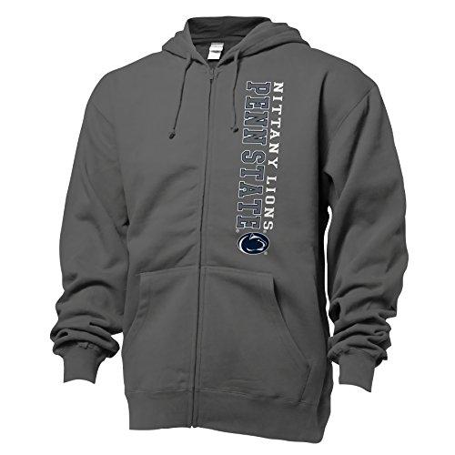 NCAA Penn State University Benchmark Full Zip Hood, Large, Graphite