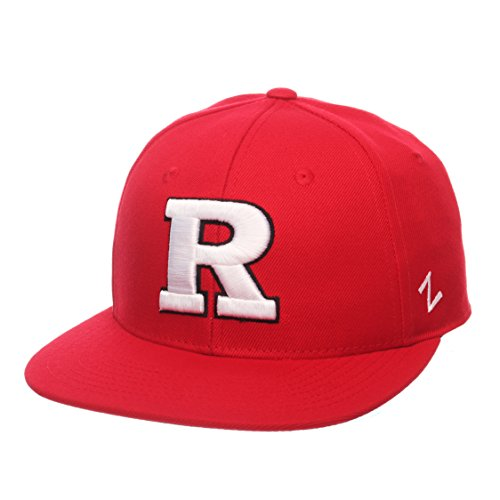 ZHATS NCAA Rutgers Scarlet Knights Men's M15 Fitted Hat, 7_1/4, Red