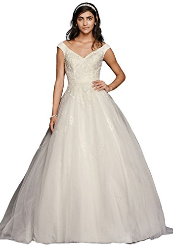 1bcd18ddebb2 Jewel Tank Tulle Wedding Dress with Lace Applique Style WG3797 - Buy ...