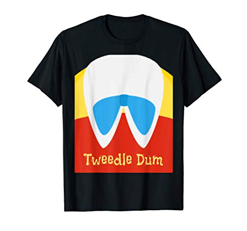 Tweedle Dum Lazy Halloween Costume for Couples Matching Tee  T-Shirt