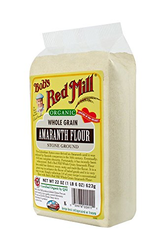 Bob's Red Mill Organic, 100% Stone Ground Amaranth Flour, 22 Ounce Bags (Pack of 4)