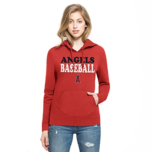 MLB Los Angeles Angels Women's '47 Headline Pullover Hoodie, Red, Medium