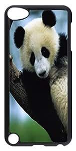 ipod 5 CaseLittle Panda Bear On A Tree PC Custom iPhone 5C Case Cover Black