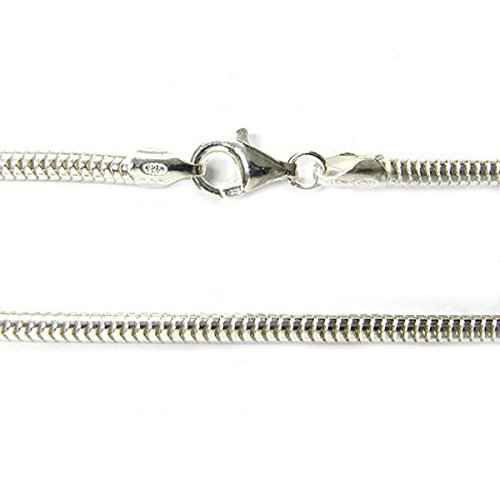 Sterling Silver Snake Cable Bracelet with Lobster Clasp For European Bead Charms
