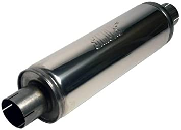 Jetex Universal Exhaust Round Silencer Box 2.5 Inch 2.5 Stainless Steel U456300R