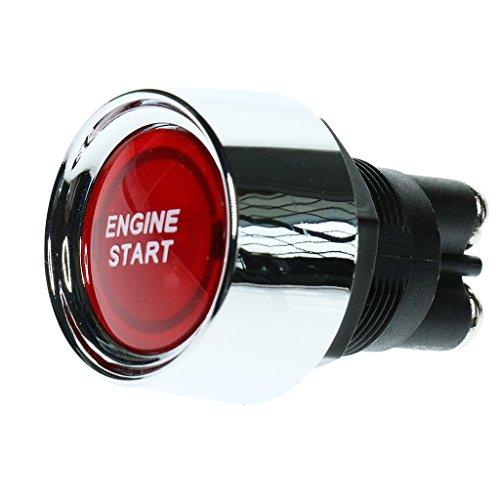 Dolity 50A 12V Interruptor Botón Pulsador de Arranque Ignición de Motores para Coche Camión Automóviles Barco