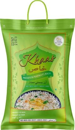 INDIA KHAAS Premium Basmati Rice | Extra Long Premium Quality Grains | Pleasant Aroma | Export Quali 2021 July Aged Rice - Basmati rice is one of the most treasured grains and ageing in rice is essential, as it enriches the features of rice by reducing the moisture content, increasing aroma and yields longer grain length. Aged rice cooks out beautifully with more aromatic scent and gives good bite when relished. The texture is lighter and fluffier. No wonder aged basmati rice is highly prized and relished. Export Quality Basmati Rice - We are driven to provide much better elongation than the other varieties of Basmati Rice available. The quality of our variant can be easily recognized by its rich aroma and sweet taste. It is highly acclaimed in the international markets as well, because of 100% purity ensured in each grain. Low GI - Wholegrain Basmati rice has the lowest GI (glycaemic index) of all rice types. In general, low glycemic index foods are considered healthier as they can help support weight loss. The glycemic index of basmati rice makes it a very healthy carbohydrate choice. However, don't assume that all rice is comparable to basmati rice. Rice products can differ from one another substantially.