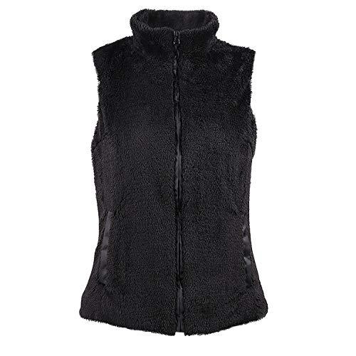 Femmes Manteau Chaud Gilets Manche Vestes Moelleux Sans New Noir Blousons Tops Coat Hauts Outerwear Hiver automne Casual Jacket qq8fCxwtg