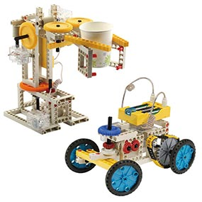 Build 10 remote control models including a robot and an antique car