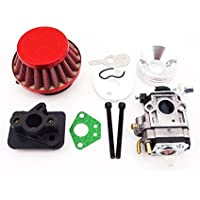 TC-Motor 15mm Carb Carburetor + Red 44mm Air Filter +...