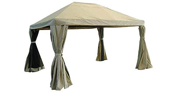 Amicasa. Cenador con cubierta de PVC 3 x 4 metros Milano: Amazon.es: Jardín