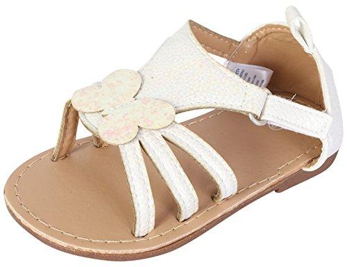 Baby Girl Dress Sandals (Gerber Baby Girls Hard Sole Butterfly Sandal, White, 3 M US Infant')