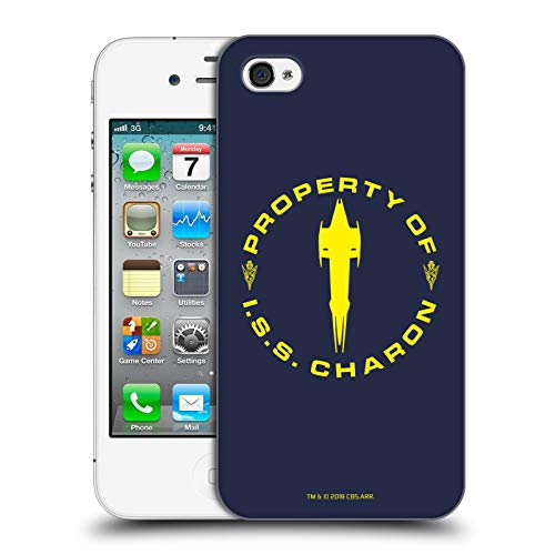 Official Star Trek Discovery I.S.S. Charon Mirror Universe Hard Back Case Compatible for iPhone 4 / iPhone 4S (Star Trek Iphone 4 Case)