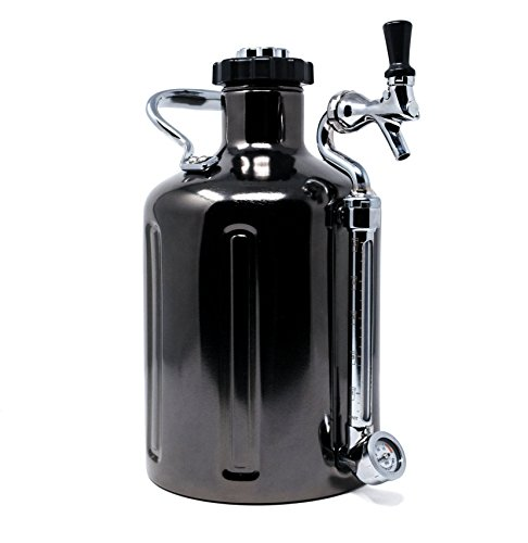 - uKeg 128 Pressurized Growler for Craft Beer - Black Chrome