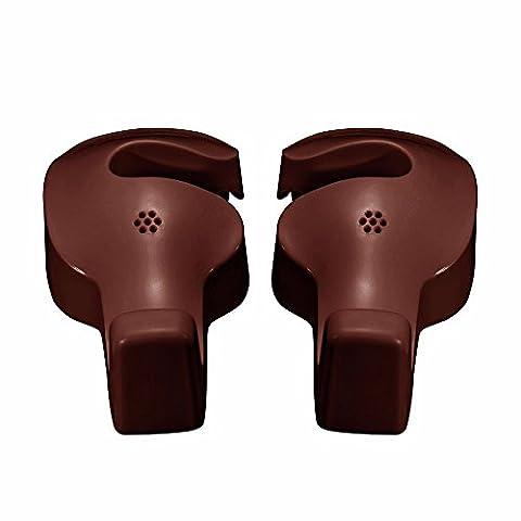 2pcs Universal Car Headrest Hook Seat Back Hanger Holder Vehicle Organizer for Handbags Purses Coats and Grocery Bags - Crochet Shell Afghan