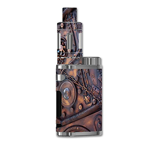 Skin Decal Vinyl Wrap for eLeaf iStick Pico 75W Vape stickers skins cover / Steampunk Metal Panel Vault Fan Gear
