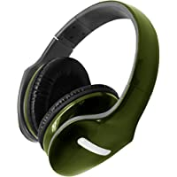 Hype Deluxe Folding Stereo Headphones - With Detachable Mic - Green