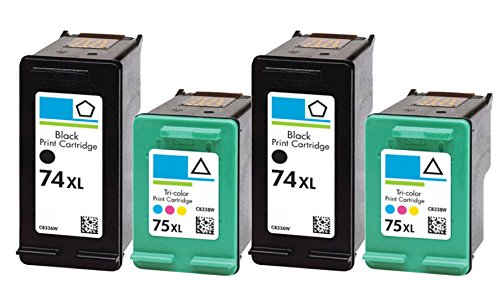 HouseOfToners Remanufactured Ink Cartridge Replacement for HP 74XL ( Black , 4-Pack )