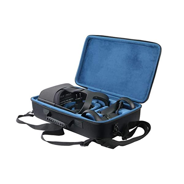 Khanka Hard Travel Case Replacement for Oculus Quest All-in-one VR Gaming Headset (Inside Blue) 1
