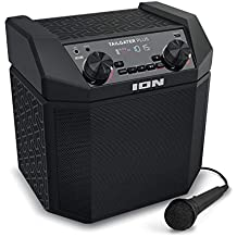 ION Audio Tailgater Plus   Wireless Rechargeable 50-Watt Portable Speaker System With Easy-Pair, 50 Hour Battery Life, Microphone & Cable, AM/FM Radio and USB Charging For Smartphones & Tablets