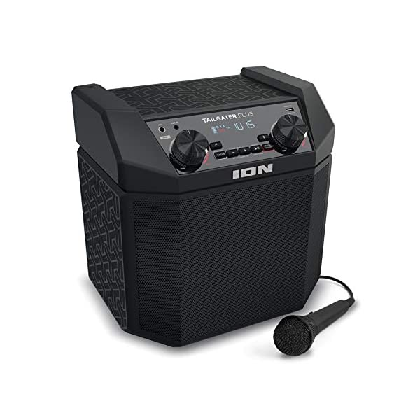 ION Audio Tailgater Plus   Portable Speaker, Battery Powered, with 50 W Power, Bluetooth...