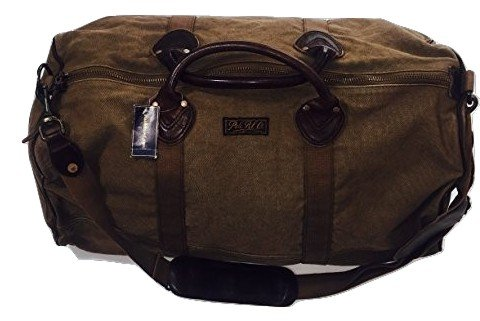 2e22a1eb477 Amazon.com   Polo Ralph Lauren Duffle Bag Bedford Brown Canvas Leather  Handle   Travel Duffels