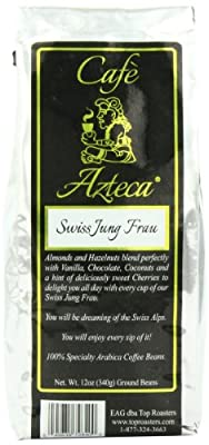 Cafe Azteca Arabica Coffee Bean, Swiss Jung Frau, 12 Ounce