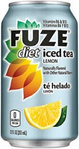 Fuze Diet Iced Tea with Lemon - 12 pack of 12 oz cans