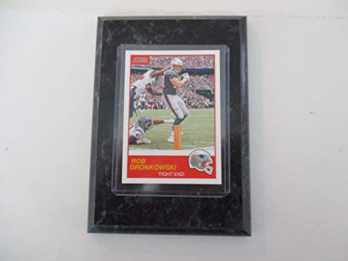 ROB GRONKOWSKI NEW ENGLAND PATRIOTS 2019 NFL SCORE PLAYER CARD MOUNTED ON A 4