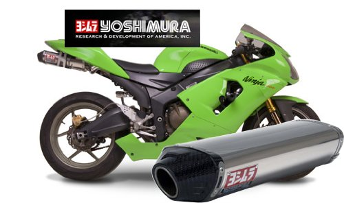Yoshimura RS-5 Polished Stainless Steel Slip-On Exhaust System - Kawasaki Ninja ZX-6R/RR 2005-2006