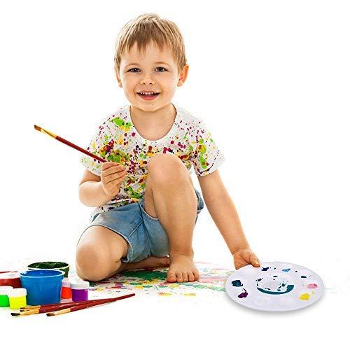 lot de 12 Hulameda-Palettes de peinture en plastique pour enfants et adultes
