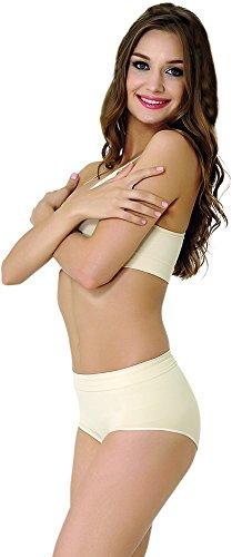 FORMeasy Women's Seamless Shapewear Low Waist Slip Shaper,Tummy Control Panties