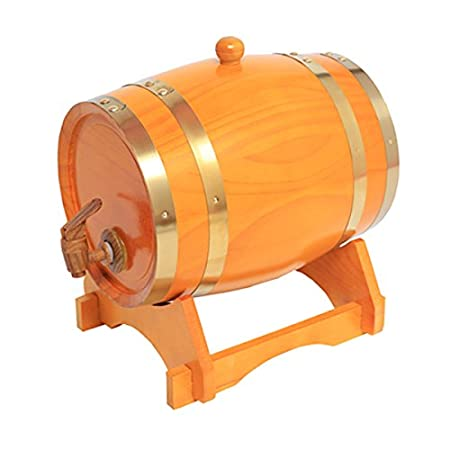 Amazon.com: Oak barrels 15L Wooden Barrel for storage or aging wine & spirits Vintage Style Tabletop Wine Dispenser Barware Wine Accessory Sets Wine Barrels ...