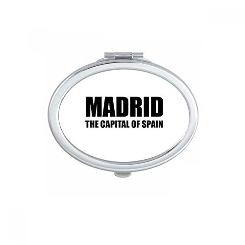 DIYthinker Madrid The Capital Of Spain Oval Compact Makeup Mirror Portable Cute Hand Pocket Mirrors Gift by DIYthinker
