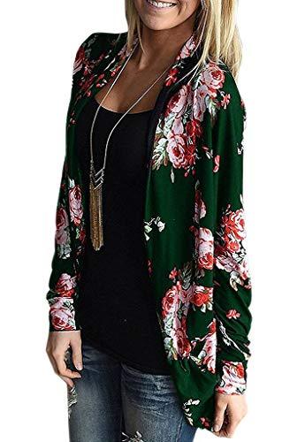 en G Cardigan Motif Asymetrique Tricot Femme Pattern ZIOOER Veste Flower qfwYzz