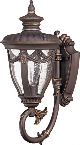 Cheap Nuvo 60/2045 Arm Up, Wall Lantern with Clear Seeded Glass, Small