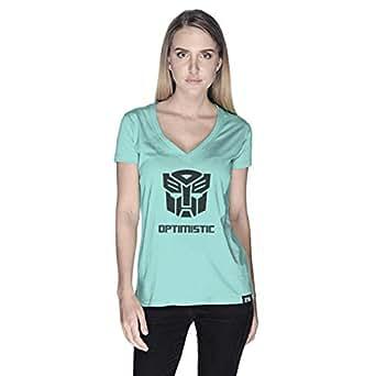 Creo Optimus Super Hero T-Shirt For Women - Xl, Green