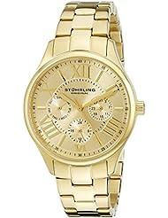 Stuhrling Original Womens 391L.03 Symphony Regent Majestic Quartz Day and Date Gold-Tone Bracelet Watch