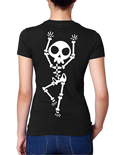 Skeleton Halloween Tshirt For Women Trick Or Treat Funny Shirt]()