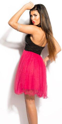 WeaModa - Vestido - Sin tirantes - Sin mangas - para mujer negro / rosa 38