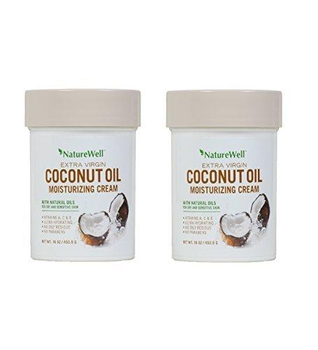 16 Oz Moisturizing Cream (NatureWell Extra Virgin Coconut Oil Moisturizing Cream, 16 oz. Pack of 2)