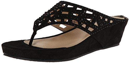 CL by Laundry Women's Norah Super Suede Wedge Sandal - Bl...