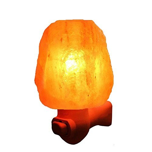 Litake Salt Lamp, Mini Hand Himalayan Salt Lamp, Cordless Crystal Salt Night Light with UL-Approved Wall Plug for Air Purifying, Relaxing and Decoration (Natural Shape)