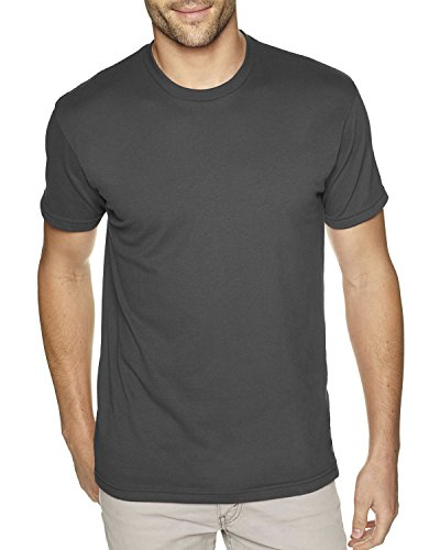 Next Level Apparel Men's Premium Fitted Sueded Crewneck T-Shirt, Heavy Metal, X-Large