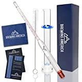 Specific Gravity Hydrometer Test Kit: ABV Tester & Borosilicate Glass Test Jar Set